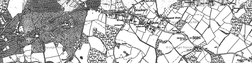 Old map of Pembury in 1895