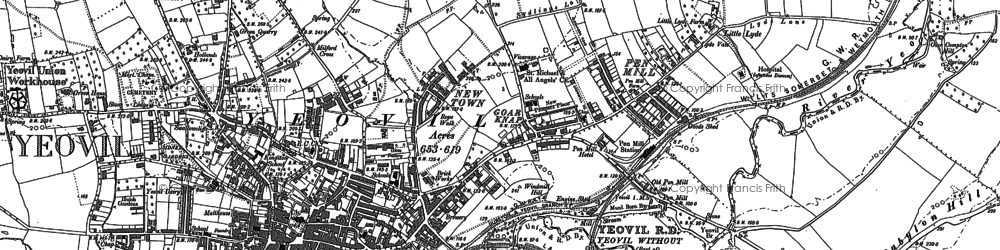 Old map of Tilly's Hill in 1901
