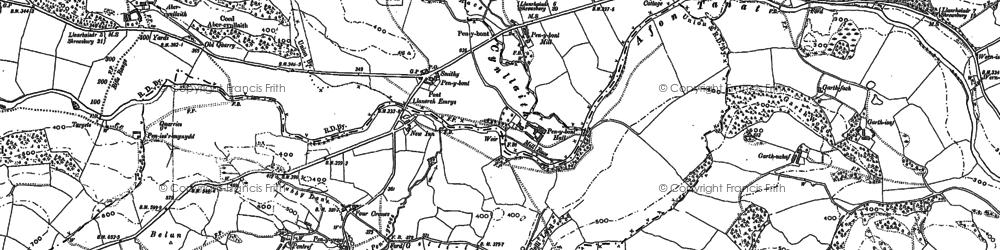 Old map of Allt Goch in 1910
