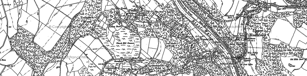 Old map of Argoed, The in 1900