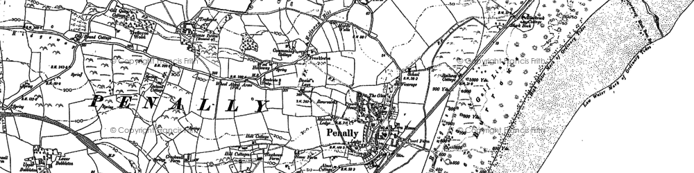 Old map of Penally in 1906