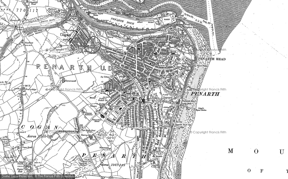 Old Map of Penarth, 1899 - 1915 in 1899