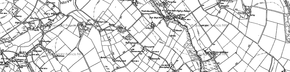 Old map of Arthach in 1887
