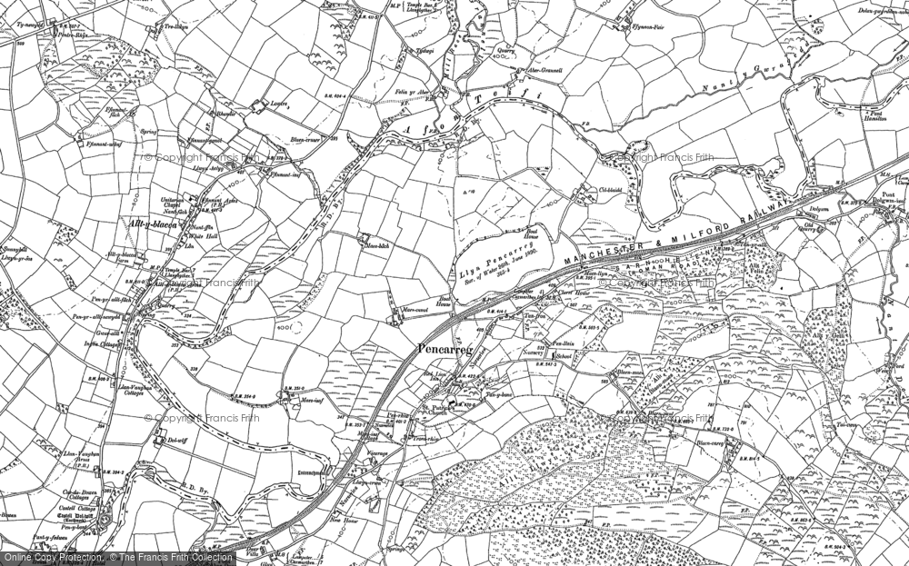 Old Map of Historic Map covering Abergrannell in 1904