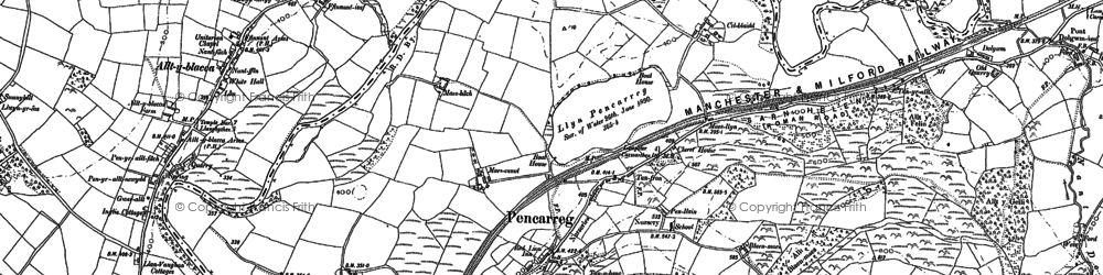 Old map of Abergrannell in 1904