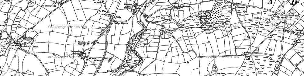 Old map of Pencarrow in 1905