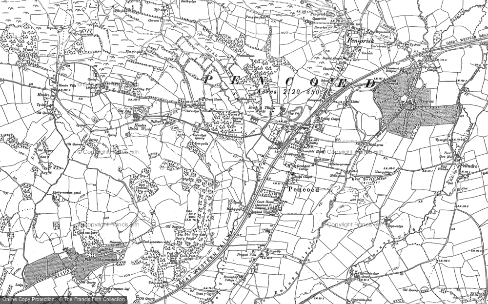 Old Map of Historic Map covering Llanilid in 1897