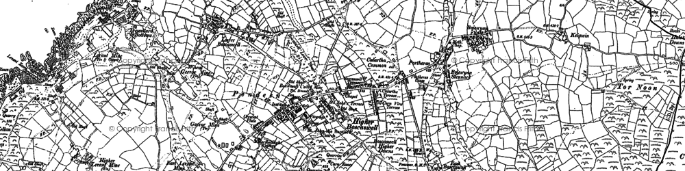 Old map of Pendeen in 1906