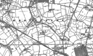 Old Map of Pendeford, 1883 - 1886