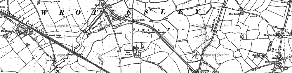 Old map of Lane Green in 1883