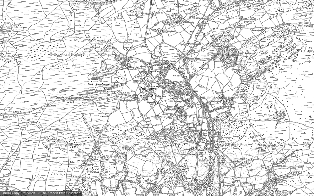 Old Map of Historic Map covering Afon Hepste in 1884