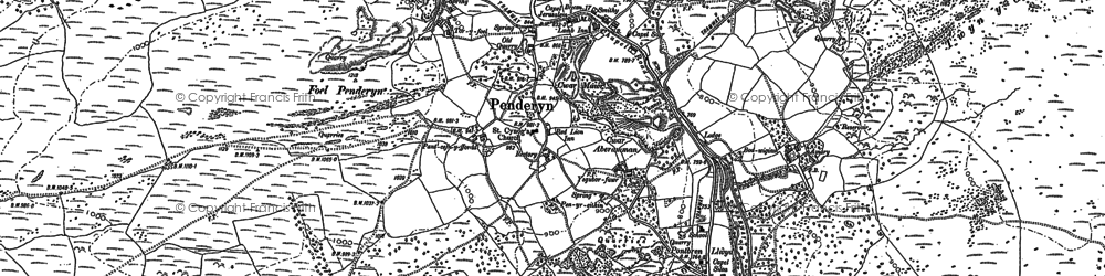 Old map of Afon Hepste in 1884
