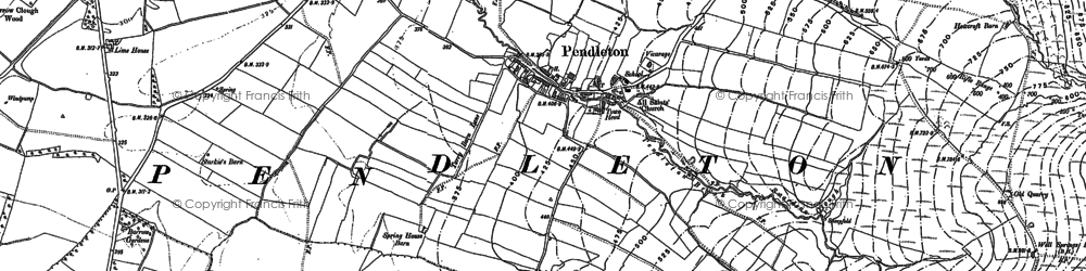 Old map of Pendleton in 1892