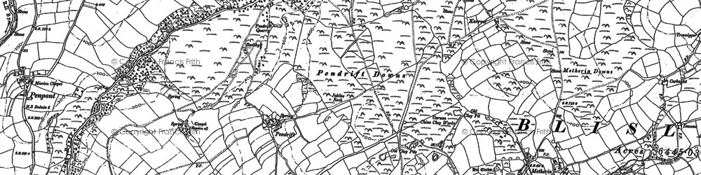 Old map of Pendrift in 1880