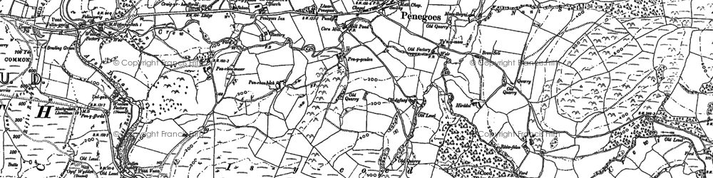 Old map of Aber-Ffrydlan in 1886