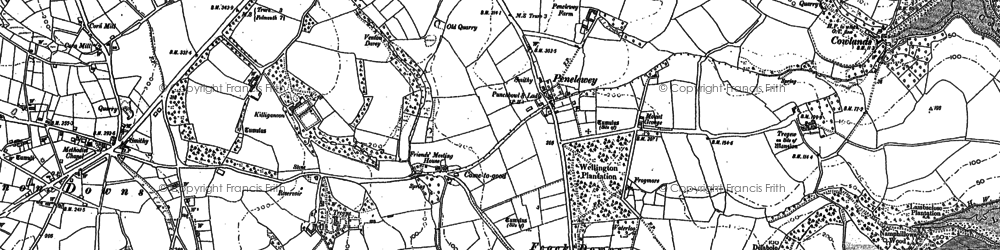 Old map of Goon Piper in 1878
