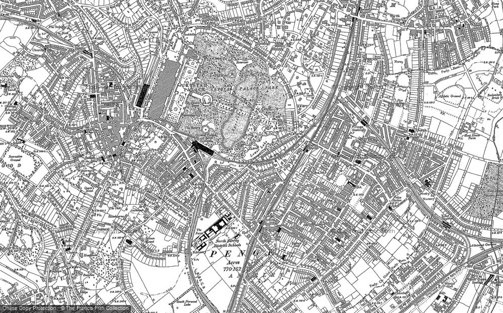 Map of Penge, 1894 - 1895