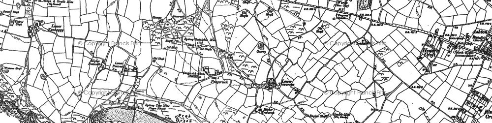 Old map of Pengersick in 1907
