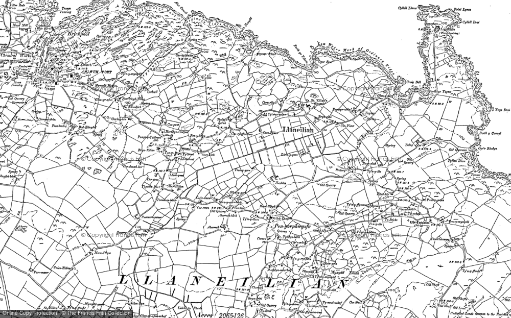 Old Map of Pengorffwysfa, 1899 in 1899