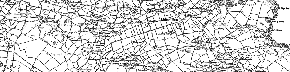 Old map of Pengorffwysfa in 1899