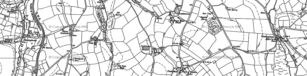 Old map of Penhallow in 1886