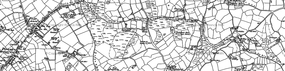 Old map of Penhalurick in 1878
