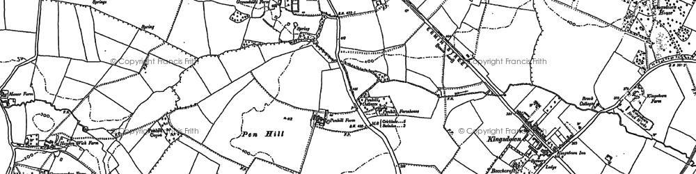 Old map of Greenmeadow in 1899
