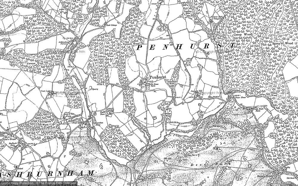 Old Map of Historic Map covering Ashburnham Forge in 1897