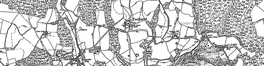Old map of Atkins Wood in 1897