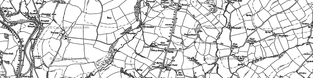Old map of Awelfryn in 1886