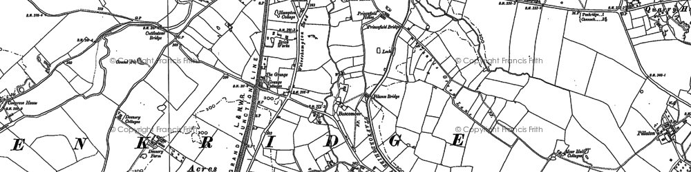 Old map of Wolgarston in 1882