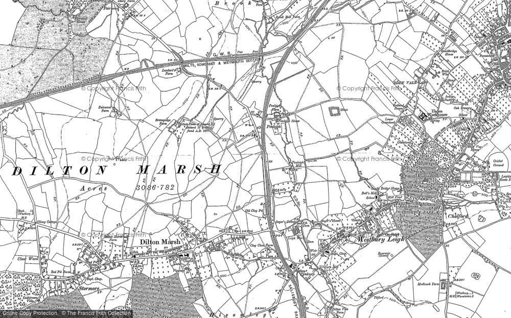 Old Map of Historic Map covering Leigh Park in 1922