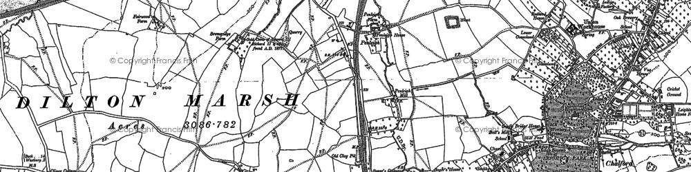 Old map of Leigh Park in 1922