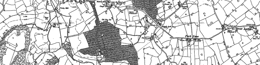 Old map of Adra-felin in 1898