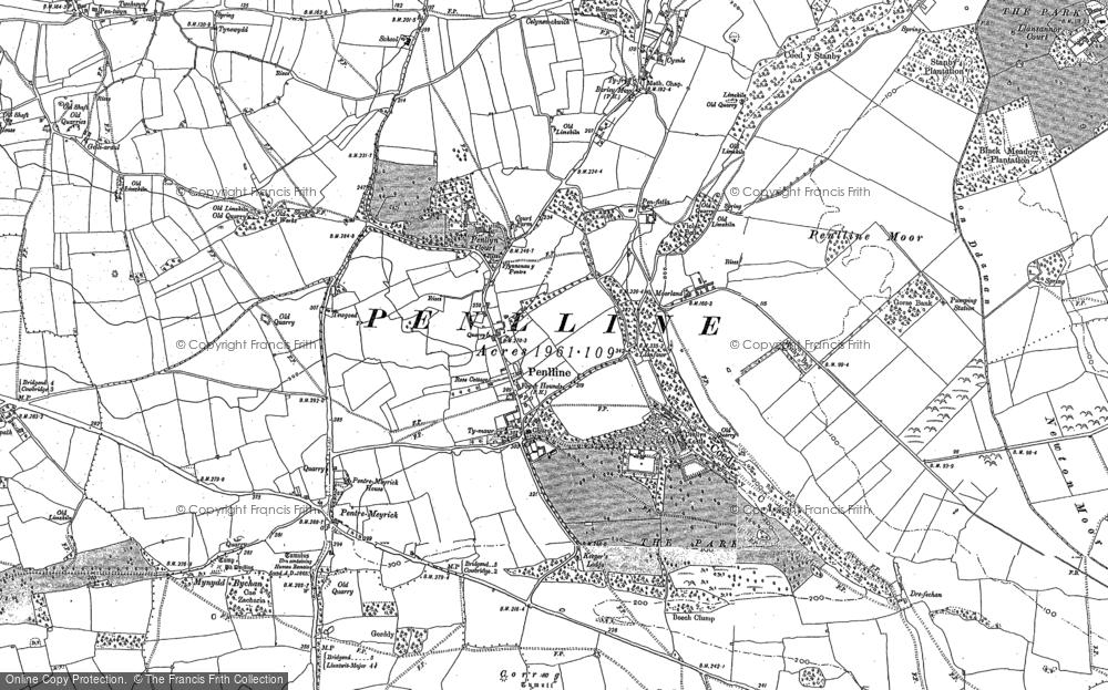 Old Map of Penllyn, 1897 in 1897