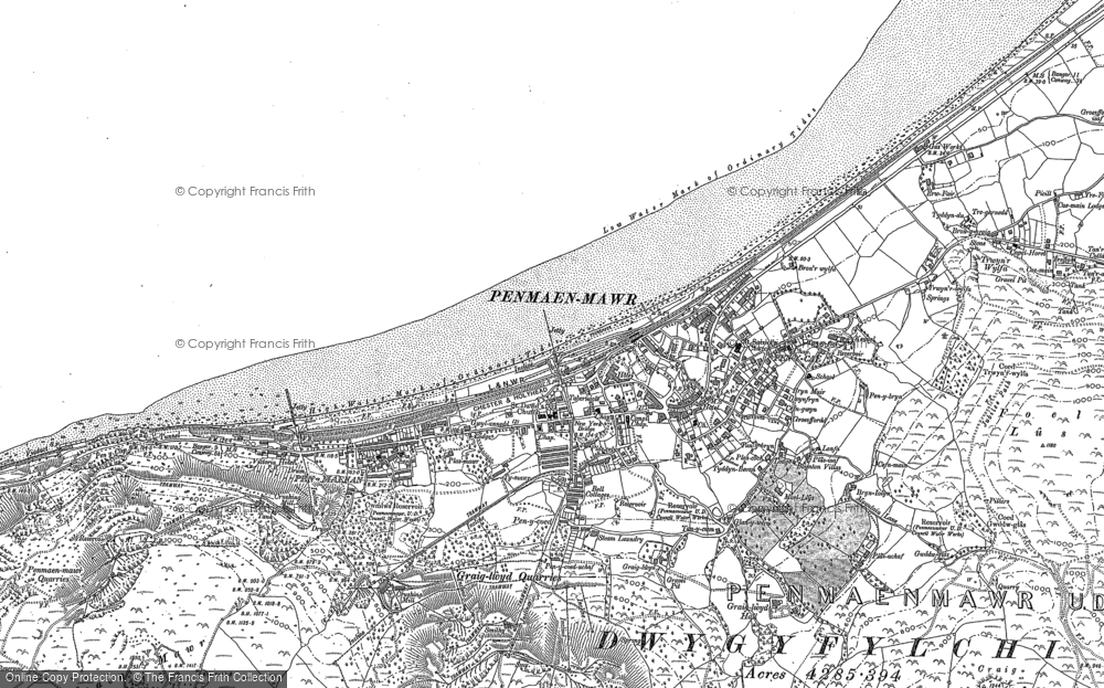 Old Map of Historic Map covering Afon Maes-y-bryn in 1887