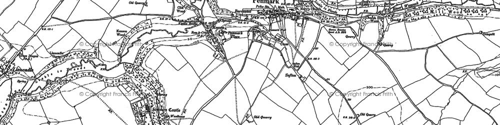 Old map of Penmark in 1898