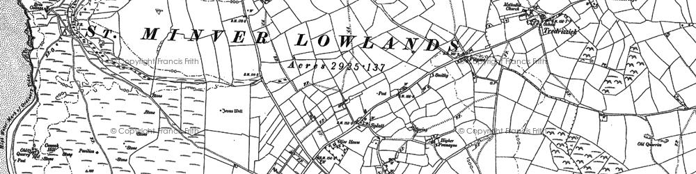 Old map of Penmayne in 1880