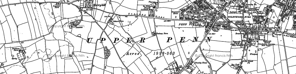 Old map of Penn in 1884