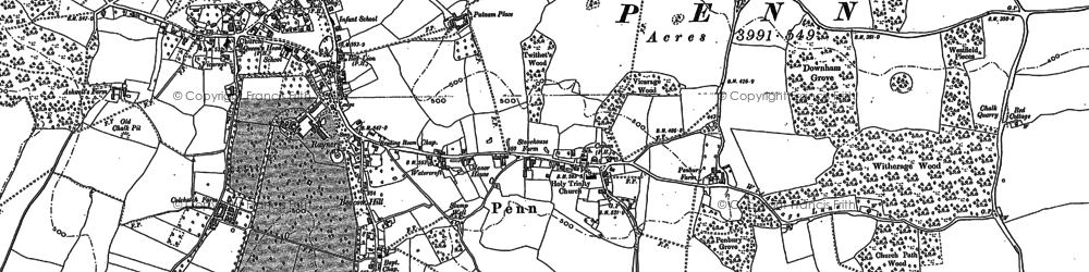 Old map of Penn in 1897