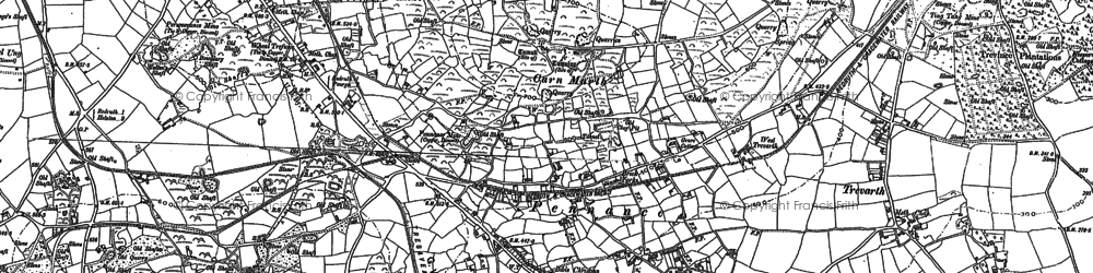 Old map of Pennance in 1878