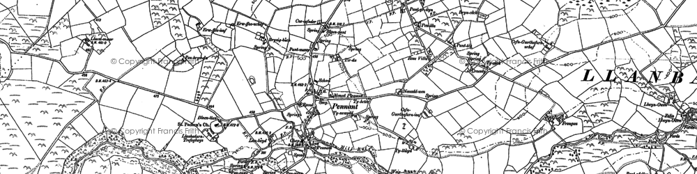 Old map of Ynys-hir in 1904
