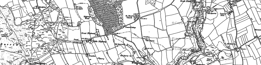 Old map of Bacon Hole in 1896