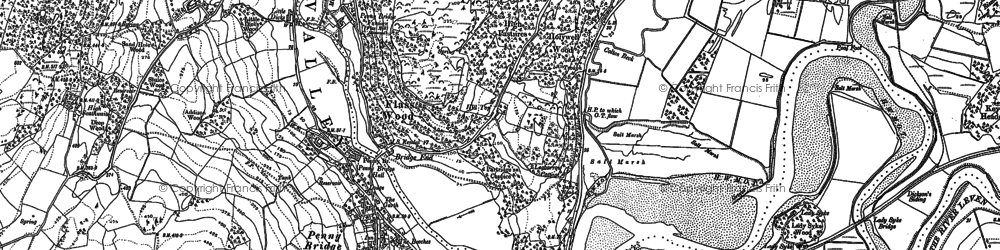 Old map of Penny Bridge in 1911