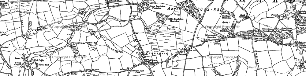 Old map of West Ruckham in 1887