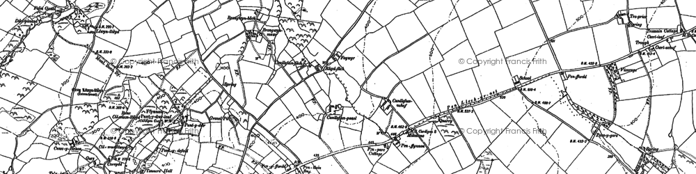 Old map of Banc-y-Warren in 1904