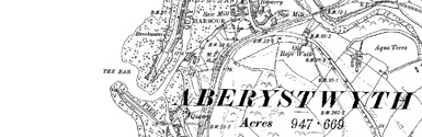 Old map of Allt-wen centred on your home