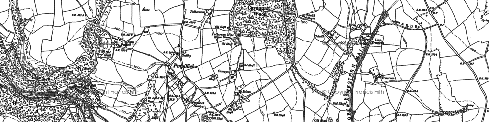 Old map of Penpillick in 1881