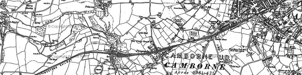 Old map of Penponds in 1877