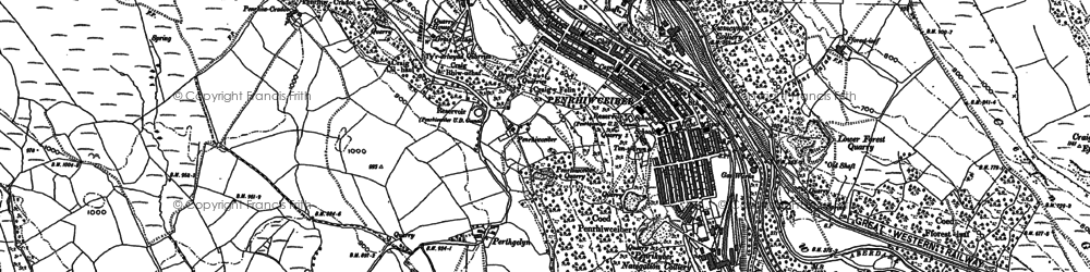 Old map of Perthcelyn in 1898